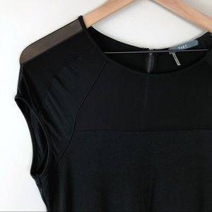 Tart black dress with sheer top women's Large